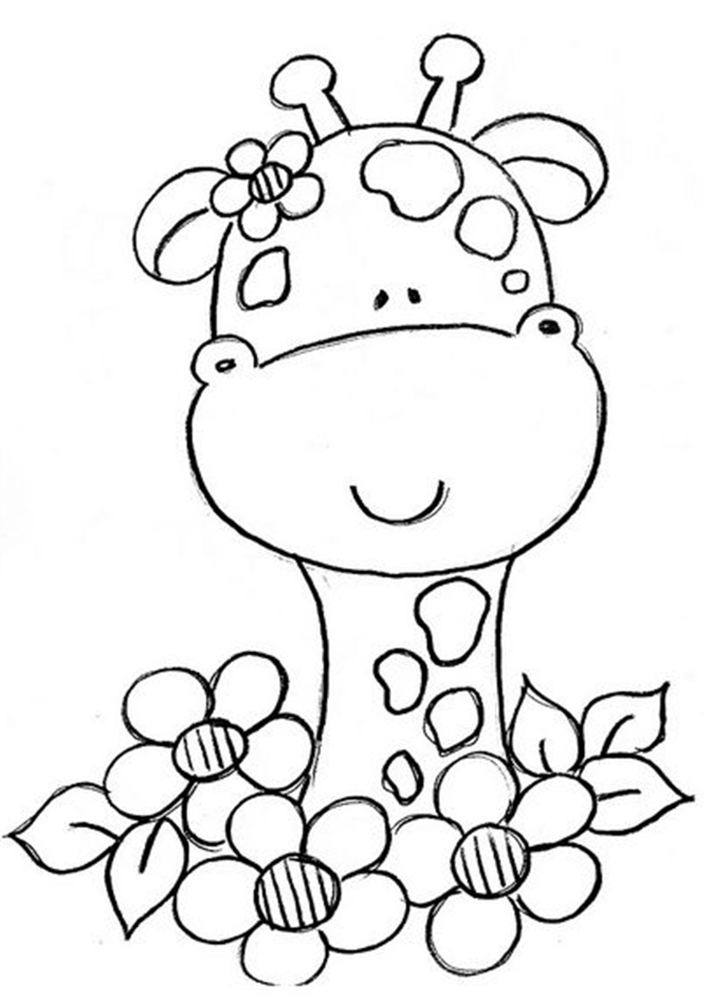 Free Easy To Print Giraffe Coloring Pages Giraffe Coloring Pages Coloring Pages Embroidery Patterns