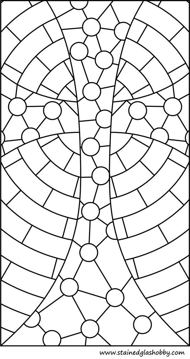 Stained glass cross pattern | Stain glass cross, Stained ...