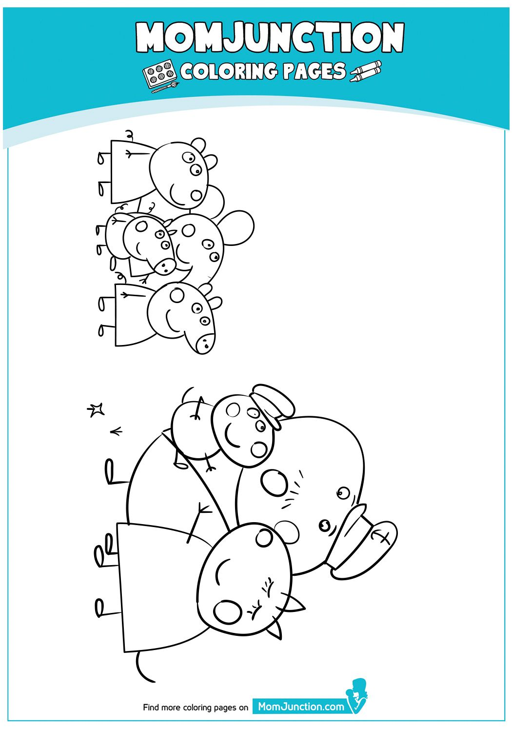 The Peppa Pig Coloring Page