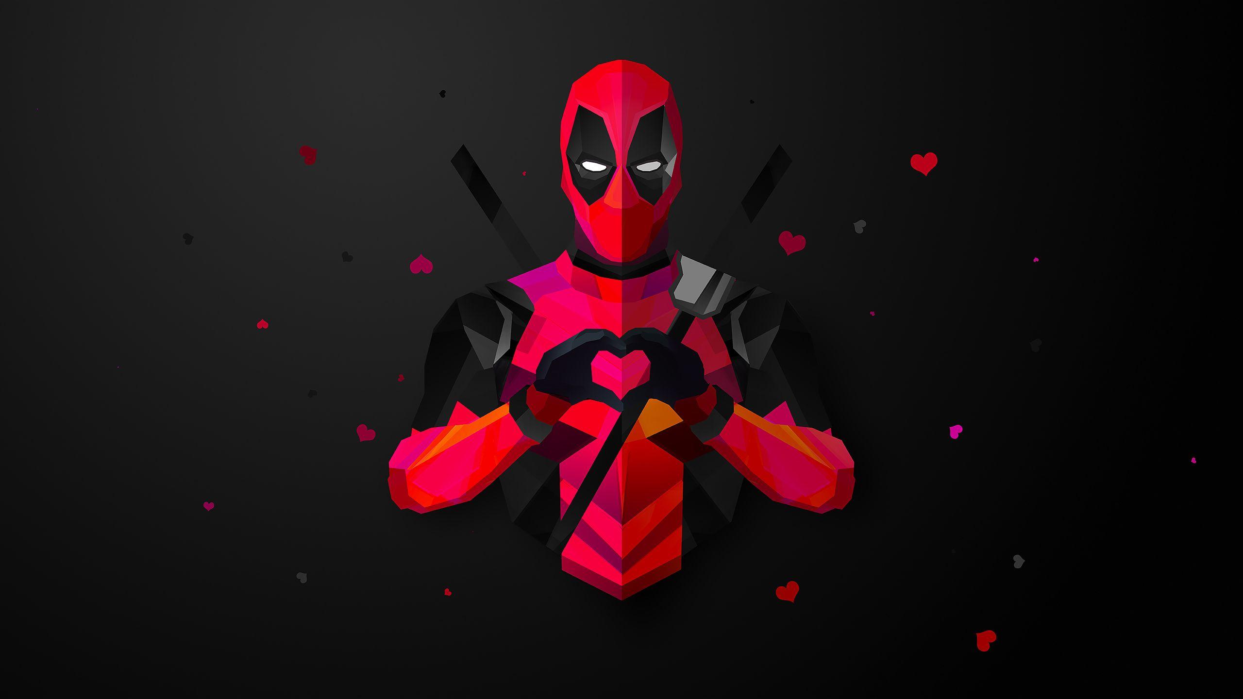 Deadpool Low Poly 2560x1440 R Wallpapers Deadpool Wallpaper Superhero Wallpaper Deadpool Logo Wallpaper