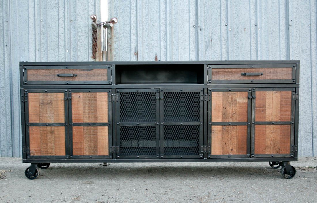 industrial media furniture. industrial furniture media