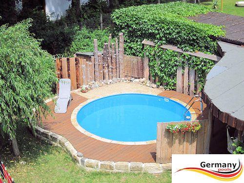 Rundbecken-Gestaltung | Pool | Pinterest | Gartenträume ...
