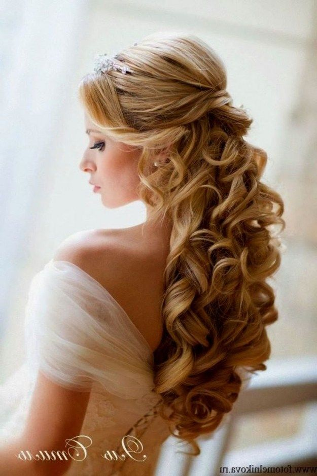 Wedding Hairstyles For Long Hair Half Up With Veil And Tiara Hair Styles Long Hair Styles Half Up Hair