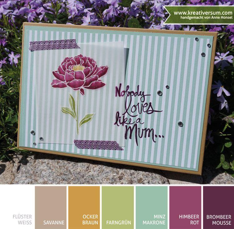 Kreativersum, Stampin\' Up!, SU, Verpackung, Muttertag, Blume ...