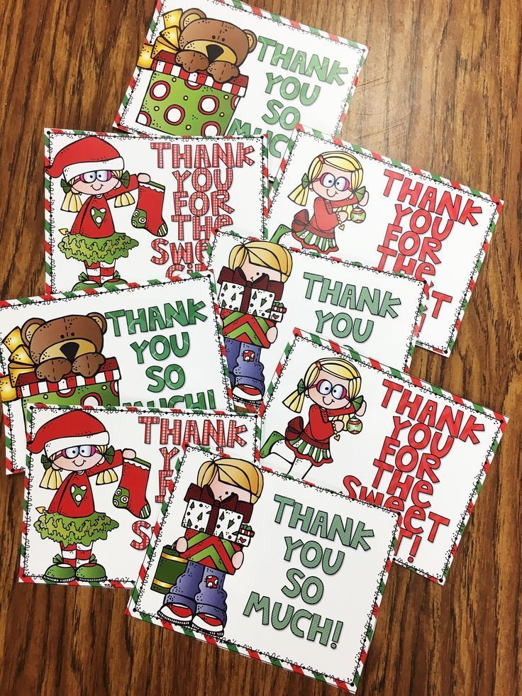 Holiday Thank You Notes Santa Claus is Coming to Town Pinterest