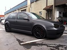 Another Matte Job Finished Vw Golf Mk4 Vw Mk4 Vw Golf