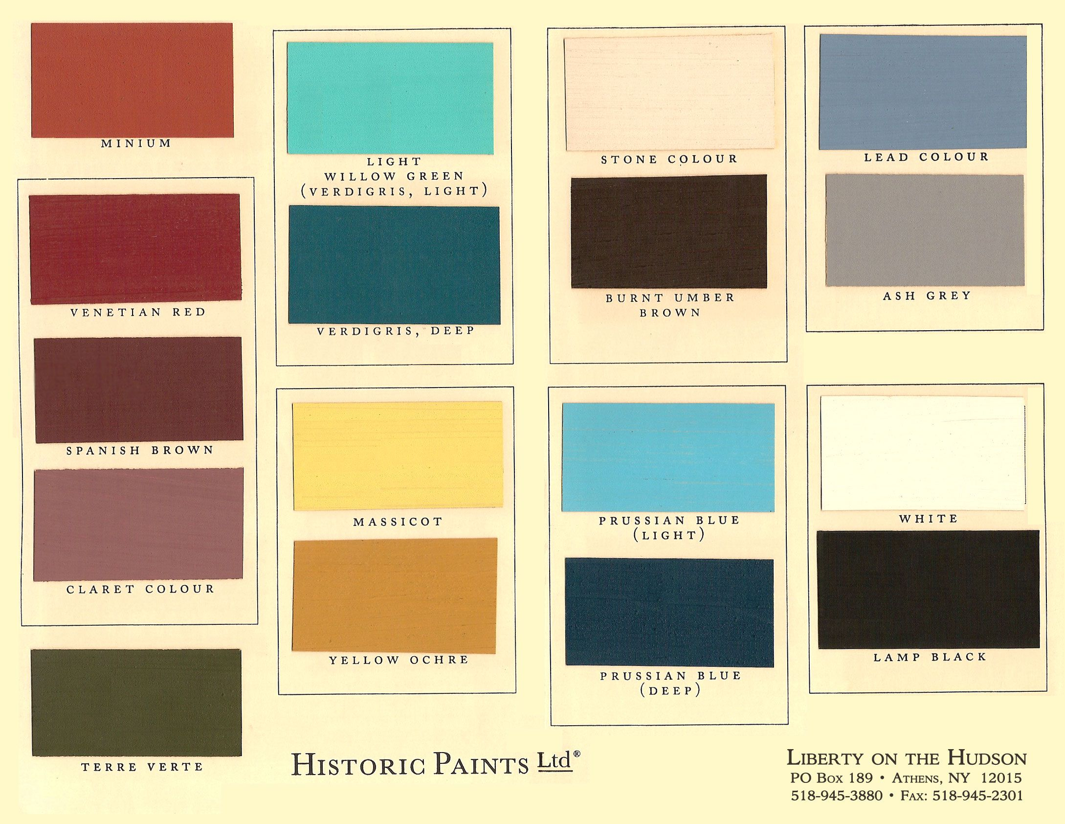 Kwal paint color chart historic paints ltd bedrooms for Color charts for painting walls