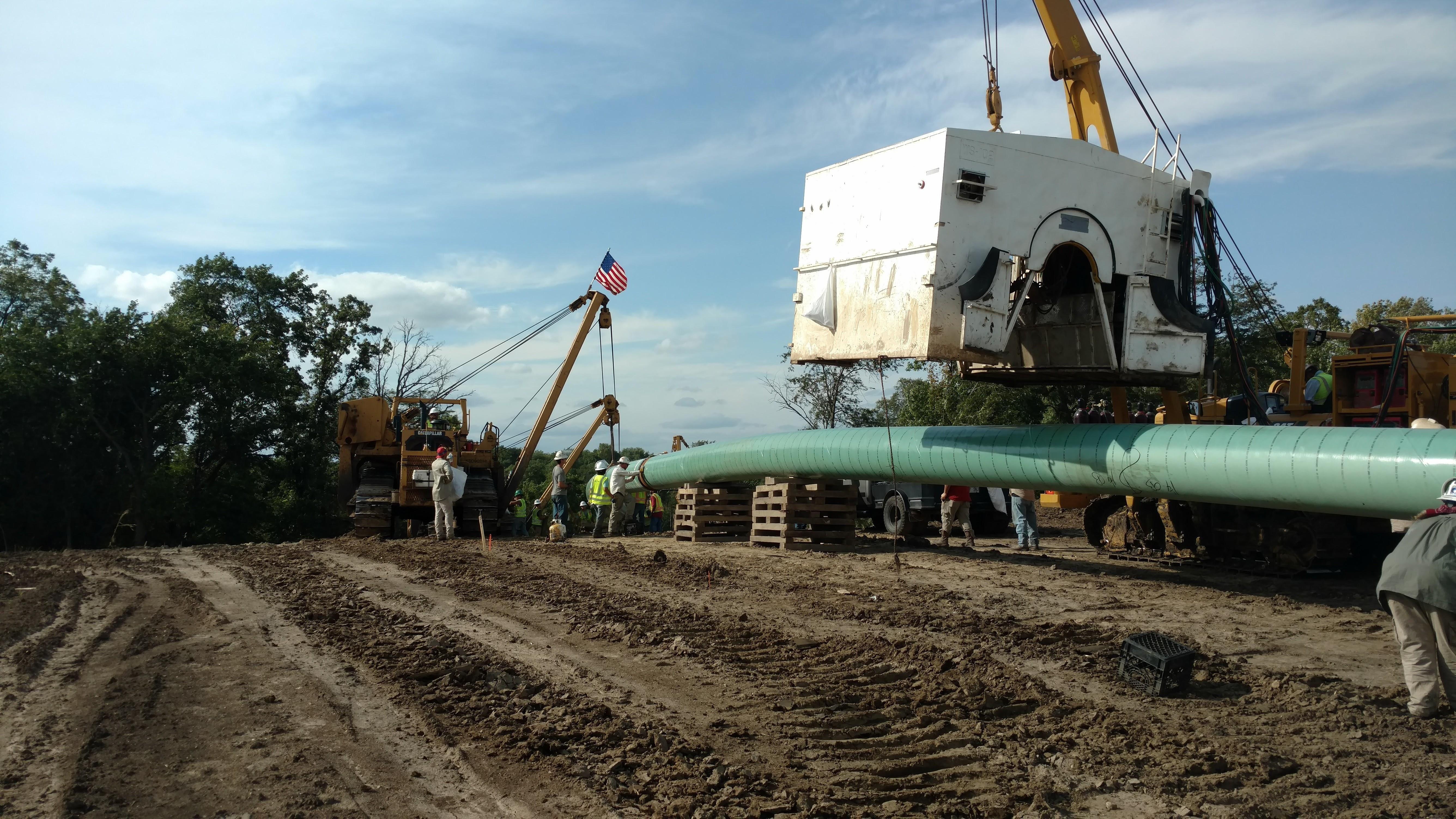 Setting An Automatic Welding Shack Crc Evans On The Dakota Access Pipeline Dakota Access Welding Settings