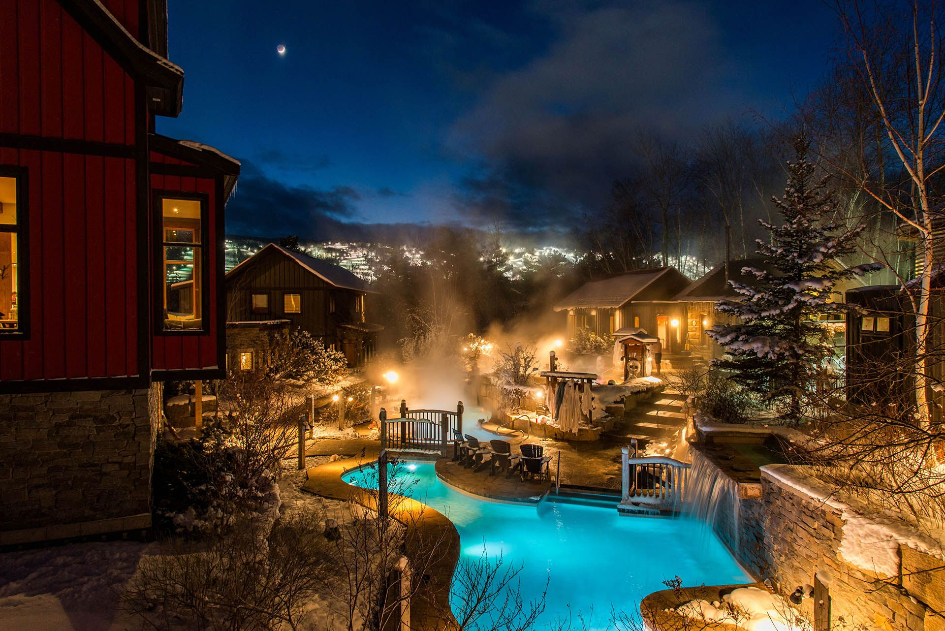 Rejuvenate At Our Peaceful Blue Mountain Spa Scandinave Spa Blue Mountain Scandinave Spa Blue Mountain Luxury Spa Hotels Blue Mountain Mountain Resort