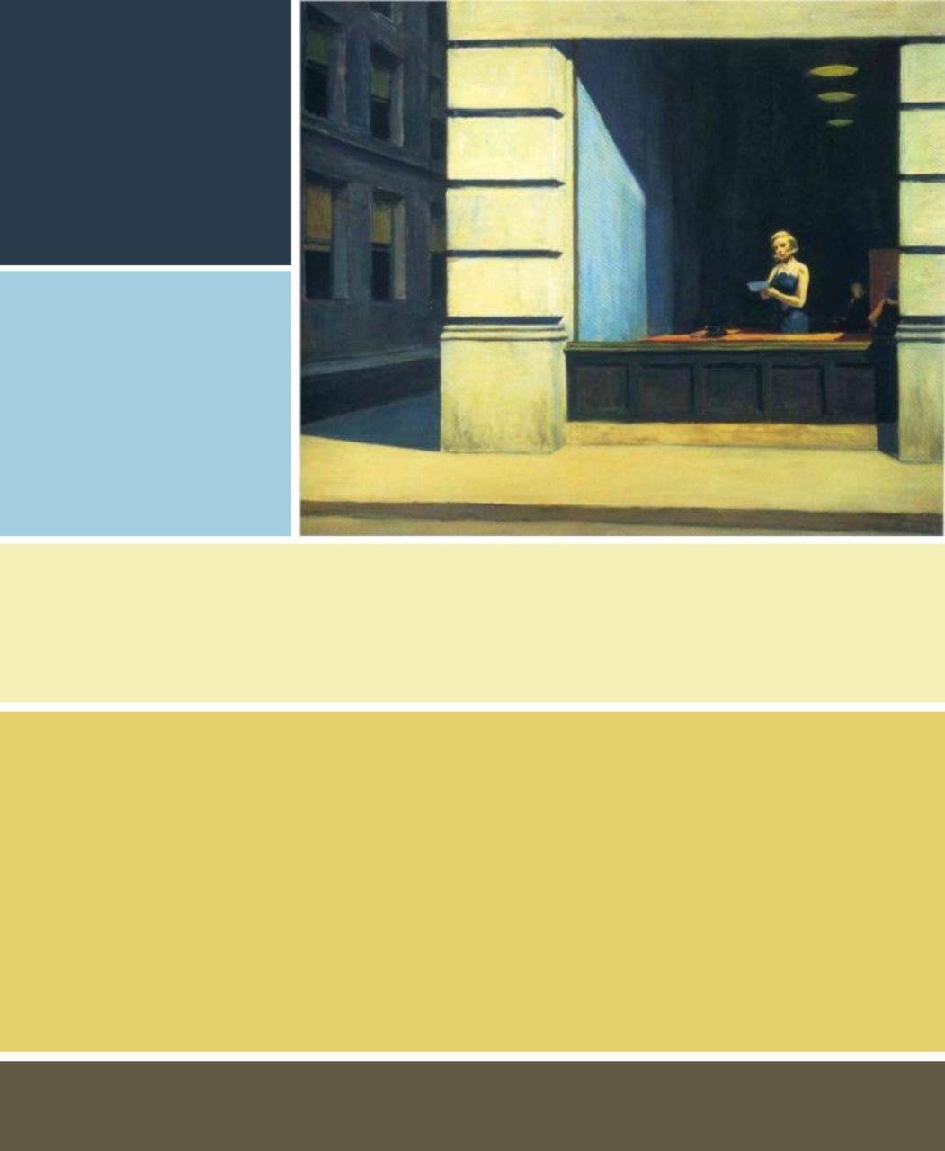 Edward Hopper New York Office 1962 Colour Palette
