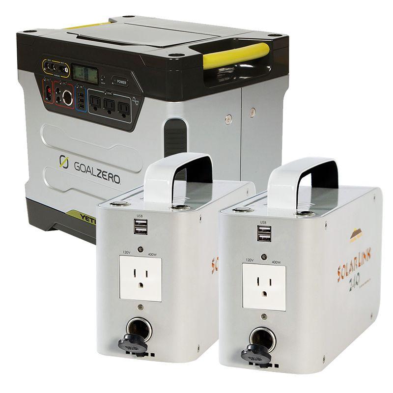 Goal Zero Yeti 1250 Solar Generator With Free Portable 240w Lithium Ion Power Pack Solar Generator Portable Solar Power Solar Generators