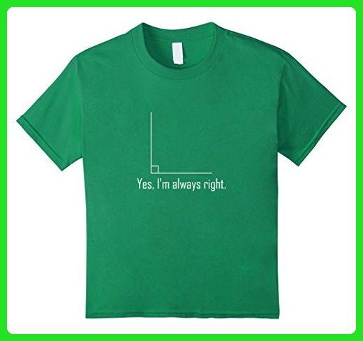 Right Angle Tee : Kids funny math t shirt geometry right angle joke