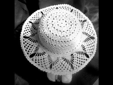 Como Fazer : Chapéu de Praia c/ Crochê Endurecido - Passo a Passo ...
