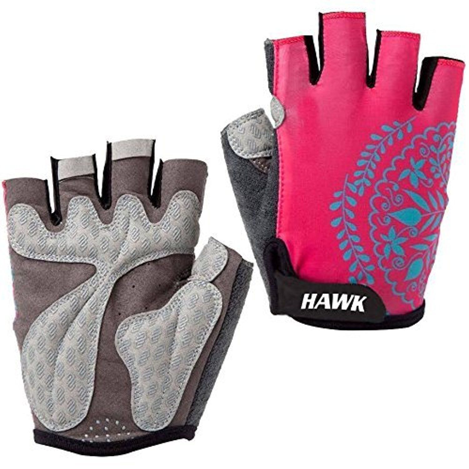 Ladies leather cycling gloves - Hawk Ladies Pink Gym Leather Weight Lifting Gloves Cycling Gloves Cross Training Bodybuilding Fitness Workout 1