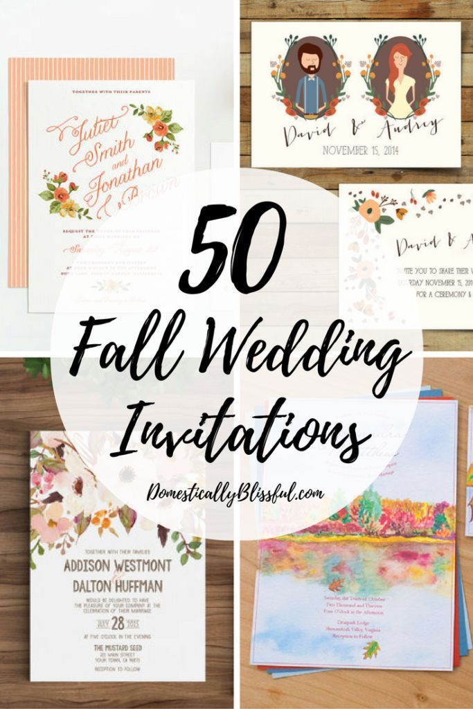 50 Fall Wedding Invitations to inspire & delight your guests as they ...
