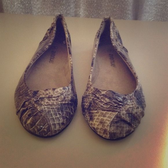 Snake Skin Flat! Wide Width Avenue Flat. Never Worn! Shoes