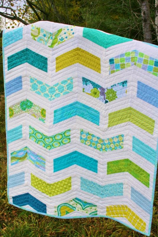 Pdf Chevron Baby Quilt Pattern By Sugarthreadz On Etsy Quilts