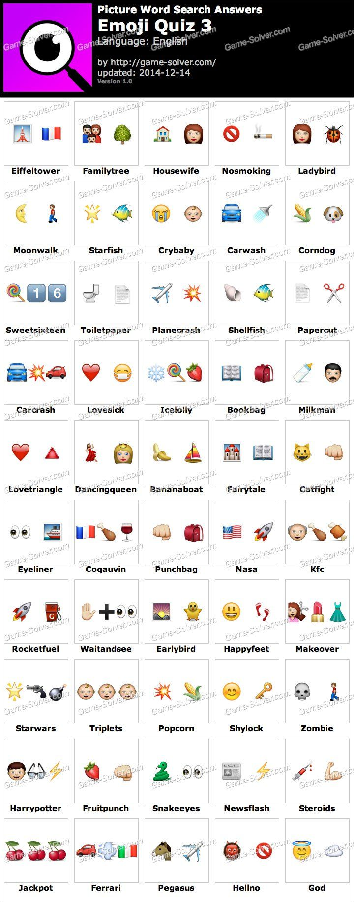 Picture Word Search Emoji Quiz 3 Answers Emoji words