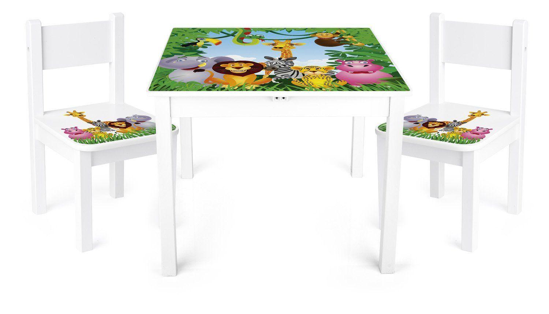 Dschungelzimmer Jungle Room Tisch Und Stuhle Fur Kinder 1 Tisch