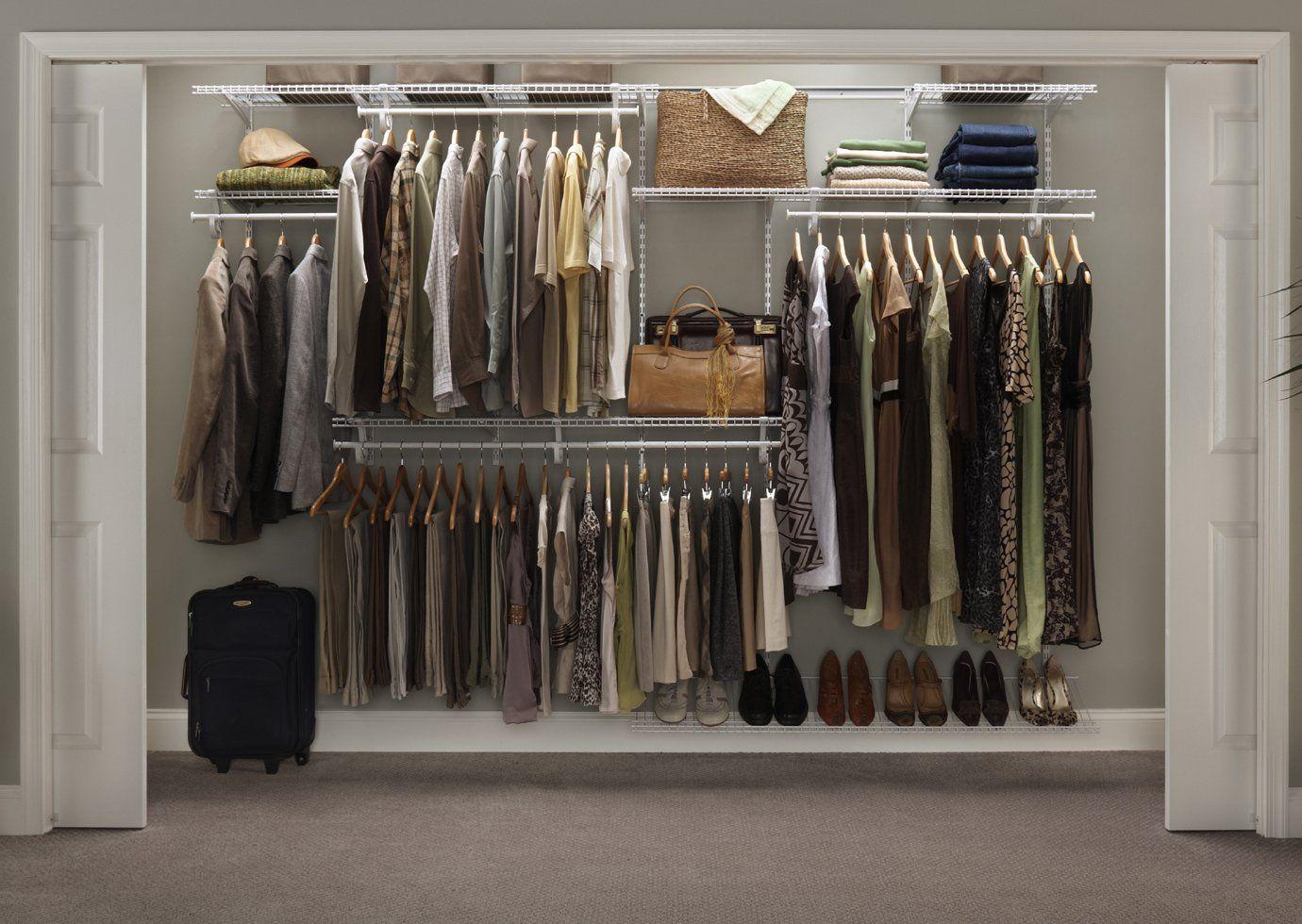 ClosetMaid ShelfTrack Closet Organizer, 7 To 10 Feet