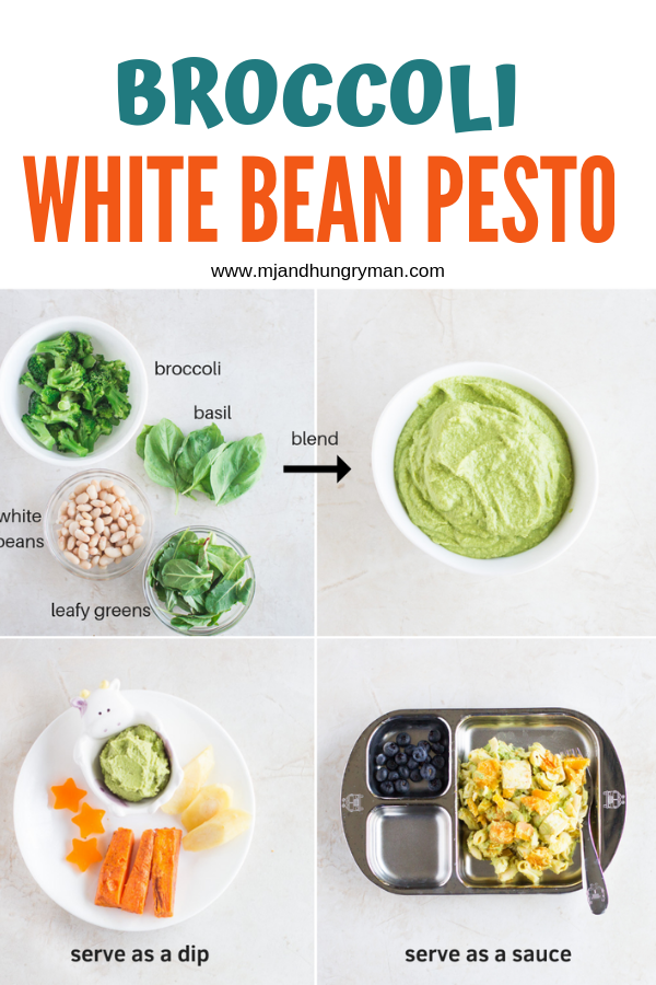 This Nut Free Broccoli White Bean Pesto Packs In So Many Nutrients With Minimal Effort It S A Great Way To Incorporate Veggies An Baby Food Recipes Pesto Food