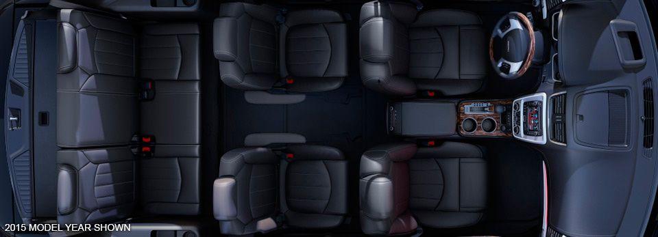 2016 GMC Acadia Denali midsize luxury SUV with fold flat second