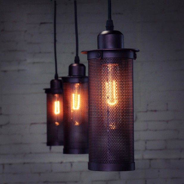 Creative Home Industrial Pendant Lighting Black Pendant Light Finish With Home Caged Lamp Retro Pendant Lights Metal Pendant Light