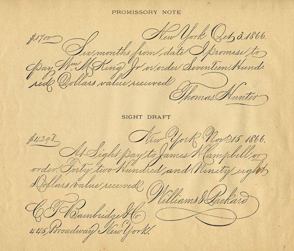 美到极致!练英文书法的人最喜欢哪些字体?(附书写教程) Font - draft of promissory note
