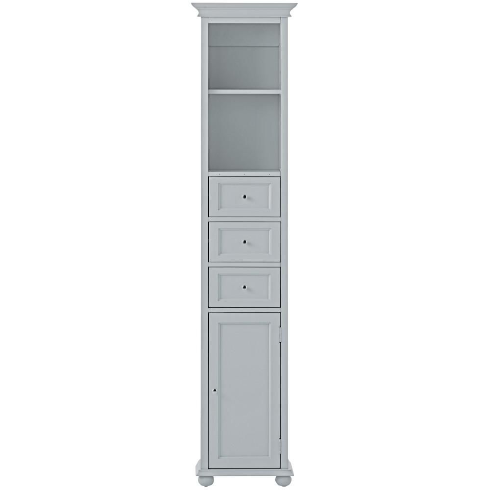 Home decorators collection winslow 22 in w corner linen - Home Decorators Collection Hampton Harbor 15 In W X 10 In D X 67 1 2 In H Linen Storage Cabinet In Dove Grey