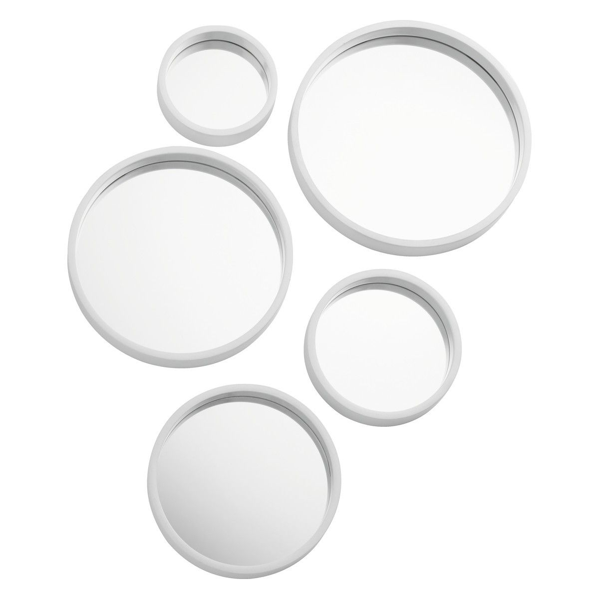 Mirror Mirror Mirror Mirror Set Of 5 White Round Mirrors Mirror Set Round Mirror Bathroom Round Mirrors