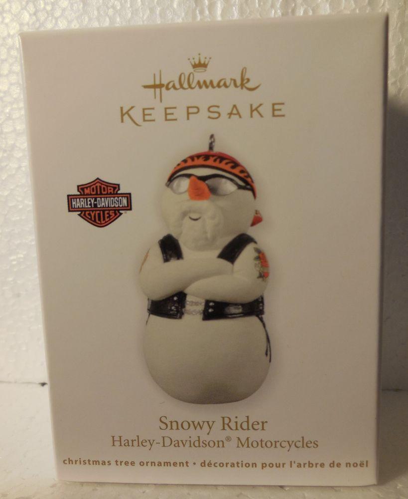 2012 HALLMARK ORNAMENT Harley-Davidson Motorcycles SNOWY RIDER Biker Snowman NIB in Collectibles, Decorative Collectibles, Decorative Collectible Brands | eBay