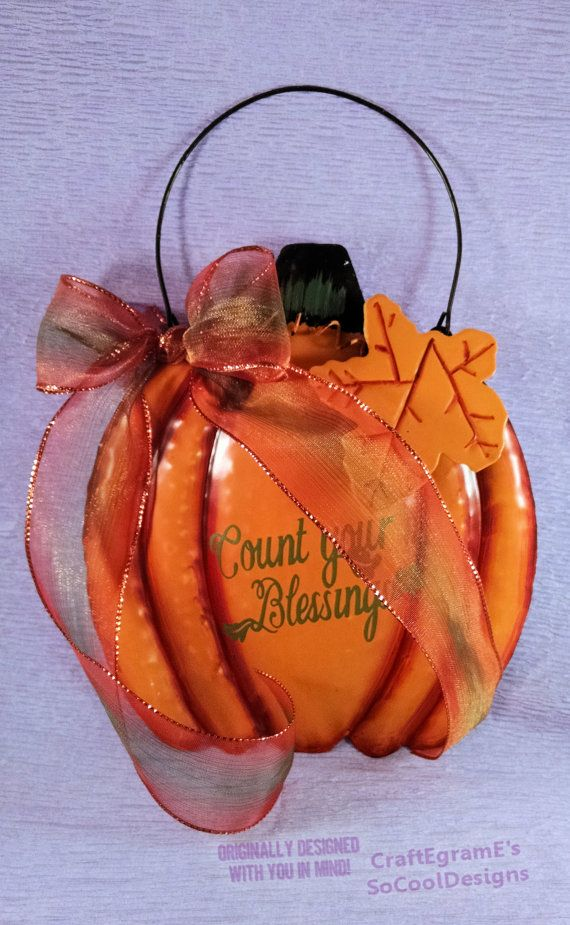 Decorate for Fall with this Pretty Pumpkin Wall by SoCoolDesigns, $11.00