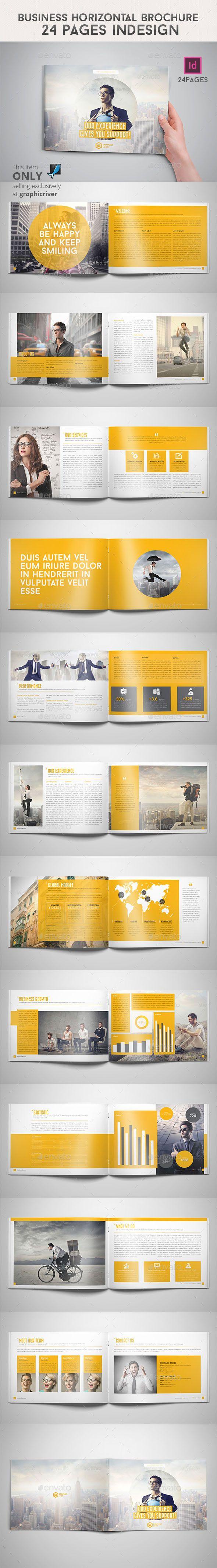 Business Horizontal Brochure 24 Pages Indesign | Brochures ...