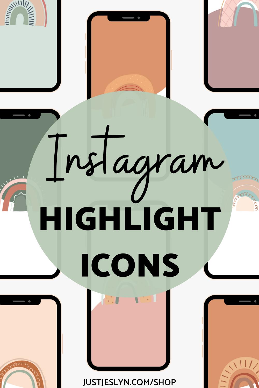 Canva Instagram Story Highlight Icons Rainbow Just Jes Lyn Instagram Story Story Highlights Instagram Advertising