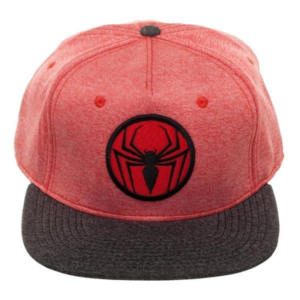 premium selection 70d95 31466 This Spiderman Two Tone Cationic Red and Black Snapback is a must-have for  Peter Parker afficionados. The cationic-dyed red and black cap ...