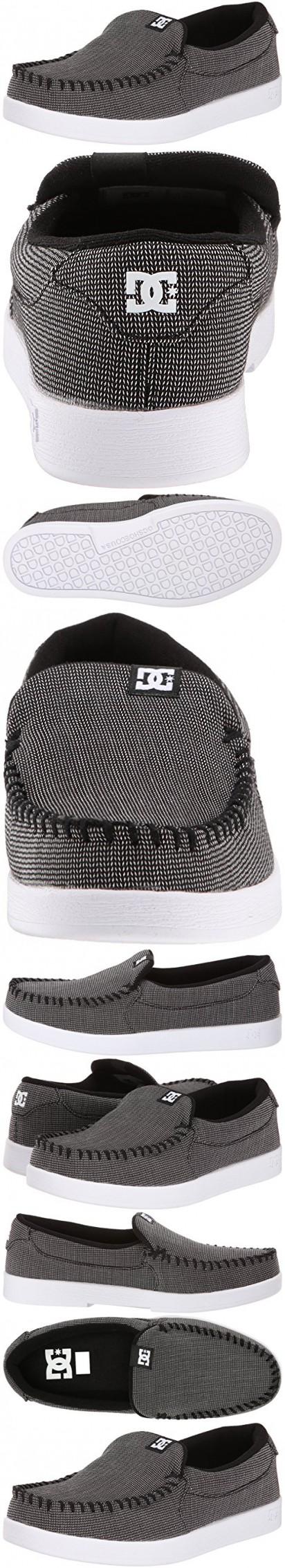 DC Men's Villain TX Skate Shoe, Black/Black/White, 7 M US