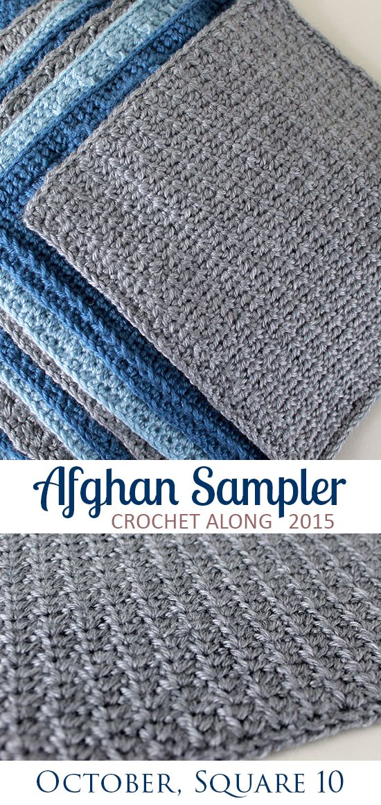 Square 10! Crochet Along Afghan Sampler (October) | Manta, Tejido y ...