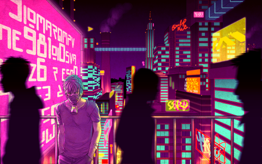 Fragments of a Hologram Dystopia   Cyberpunk aesthetic ...