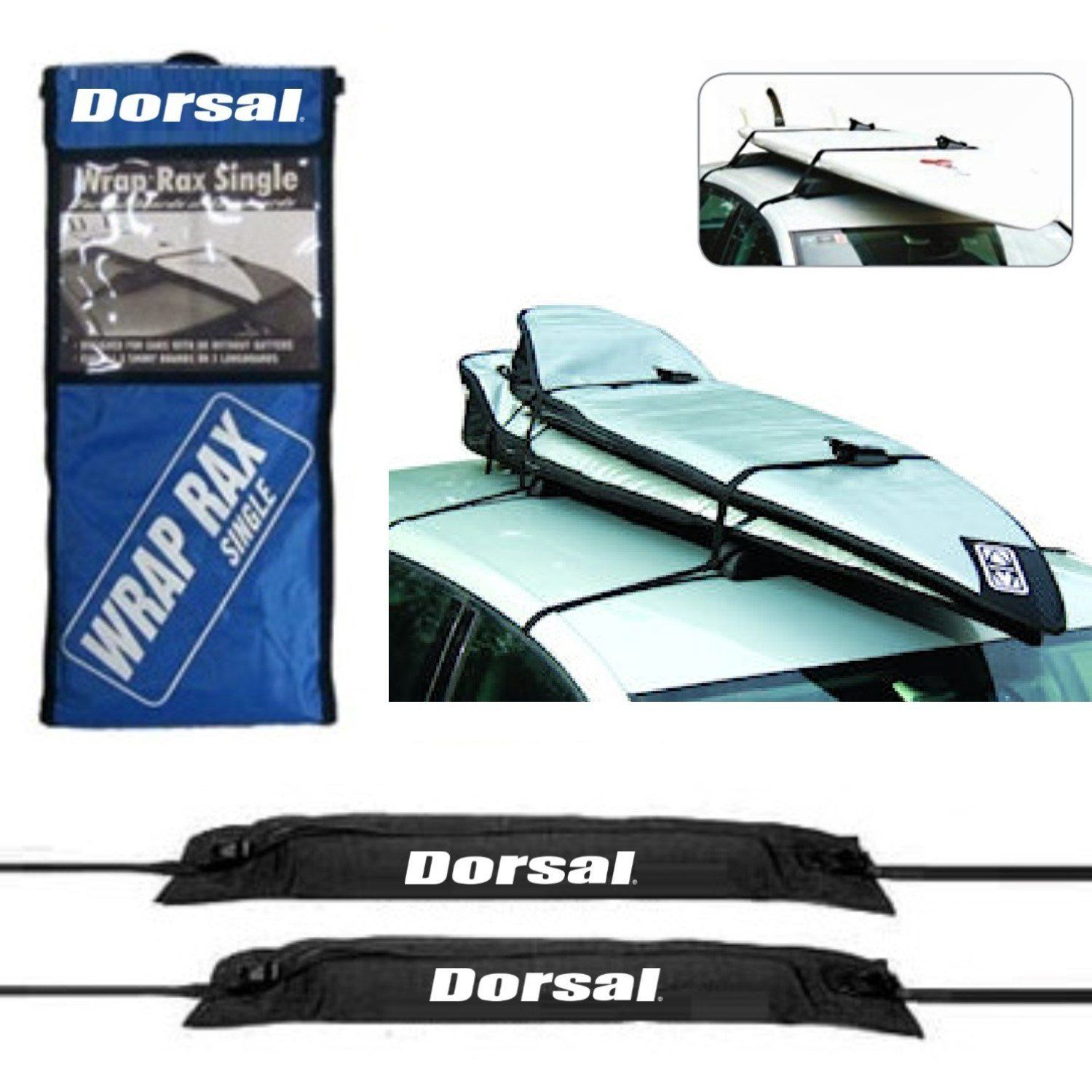 Dorsal Deluxe Soft WrapRax Surf Rack Pads and Straps