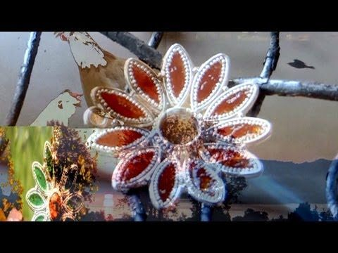 Goldsmith Holiday work, granulated, enamelled silver flowers. - YouTube
