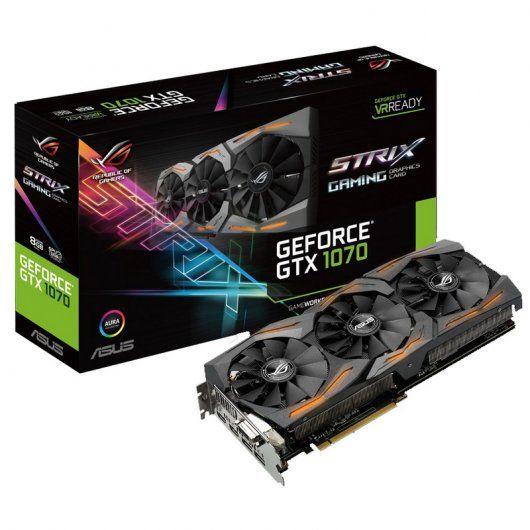 La mejor tarjeta gráfica Asus Geforce GTX1070 Rog Strix Gaming 8GB GDDR5: 572,20 € iva incluido http://www.dns-system.es/asus-geforce-gtx1070-rog-strix-gaming-8gb-gddr5-p-2935.html