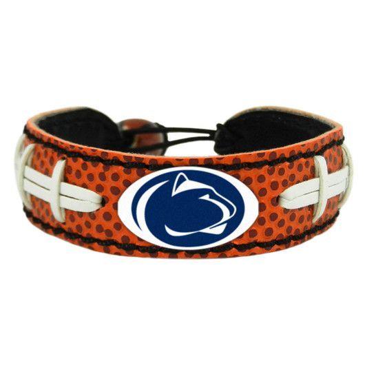 Penn State Nittany Lions Leather Football Bracelet