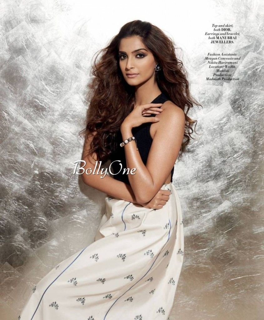 Sonam Kapoor Looks Stunning Hot & Sexy Scans From L'Officiel India June 2015