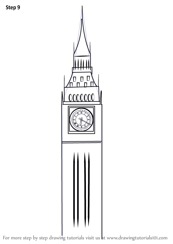 Learn How To Draw Big Ben Other Places Step By Step Drawing Tutorials Big Ben Drawing Big Ben Drawings
