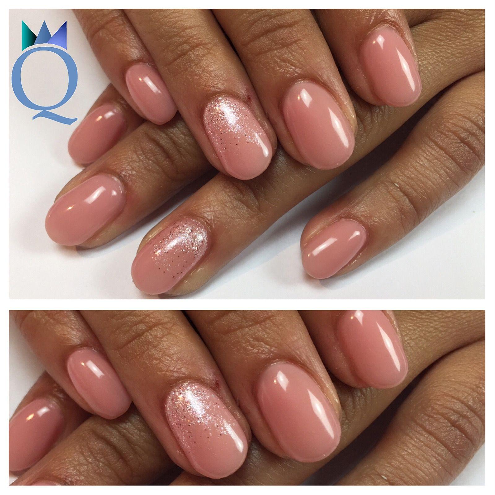 shortnails #gelnails #nails #nude #glitter #akyado #kurzenägel ...