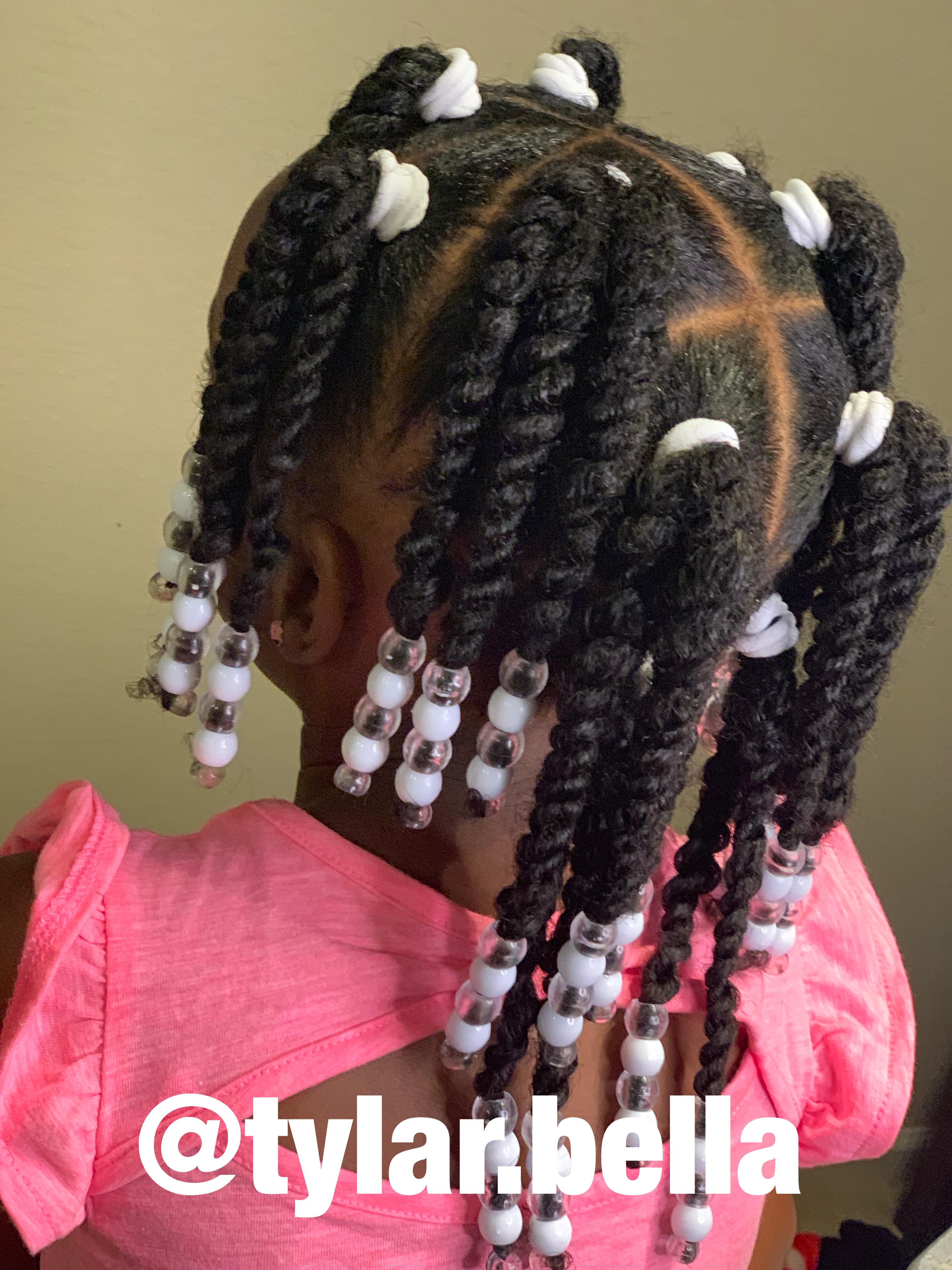 Twist Beads Natural Hair Kids Natural Hairstyles For Kids Kids Hairstyles Natural Hair Styles
