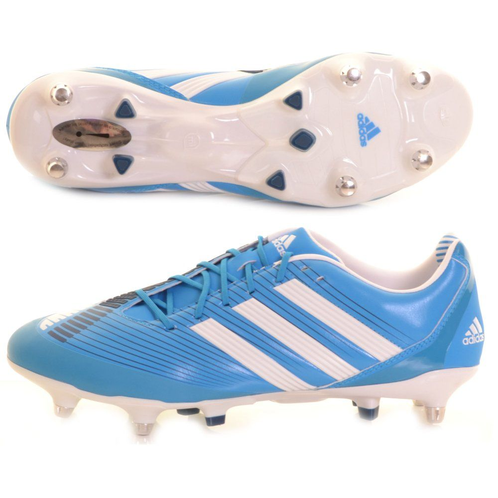 Adidas Predator Incurza AXT Rugby Boot Blue and White - £170 at  ShopRugby.com