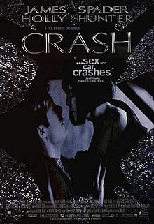 """Not THAT movie: James Spader as a man who gets """"auto-erotic"""" watching car collisions. Directed by David Cronenberg."""