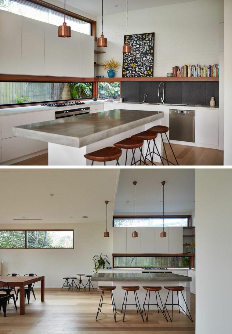 Fenêtre bandeau pour déco de cuisine contemporaine -  Modern