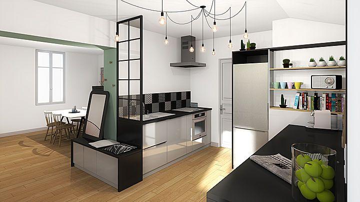 Une nouvelle cuisine à Bordeaux Projets prospectifs Pinterest - location studio meuble ile de france